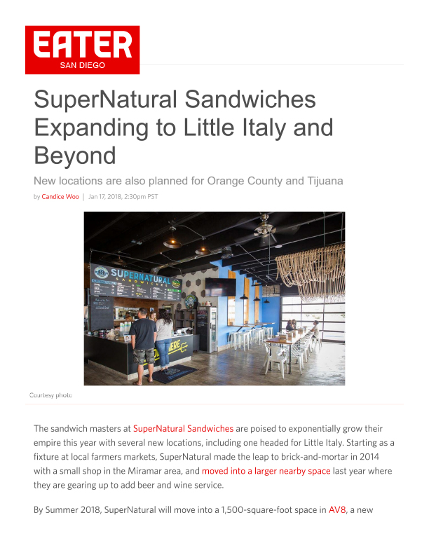 Fa 01.17.2018 Eater Sd Supernatural Sandwiches Expanding To Little Italy And Beyond