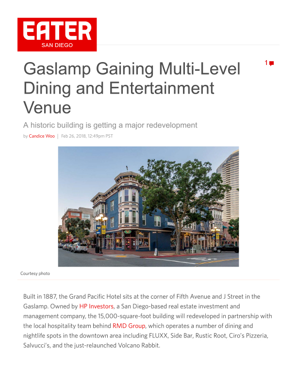 Fa 02.26.2018 Eater Sd Gaslamp Gaining Multi Level Dining And Entertainment Venue
