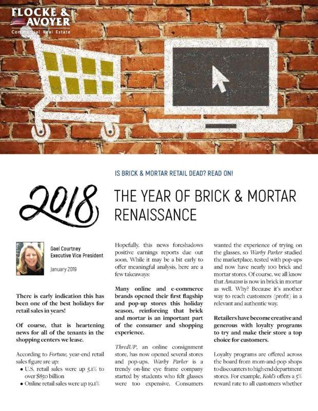 Fa Gael Courtney 2018 The Year Of Brick & Mortar Renaissance