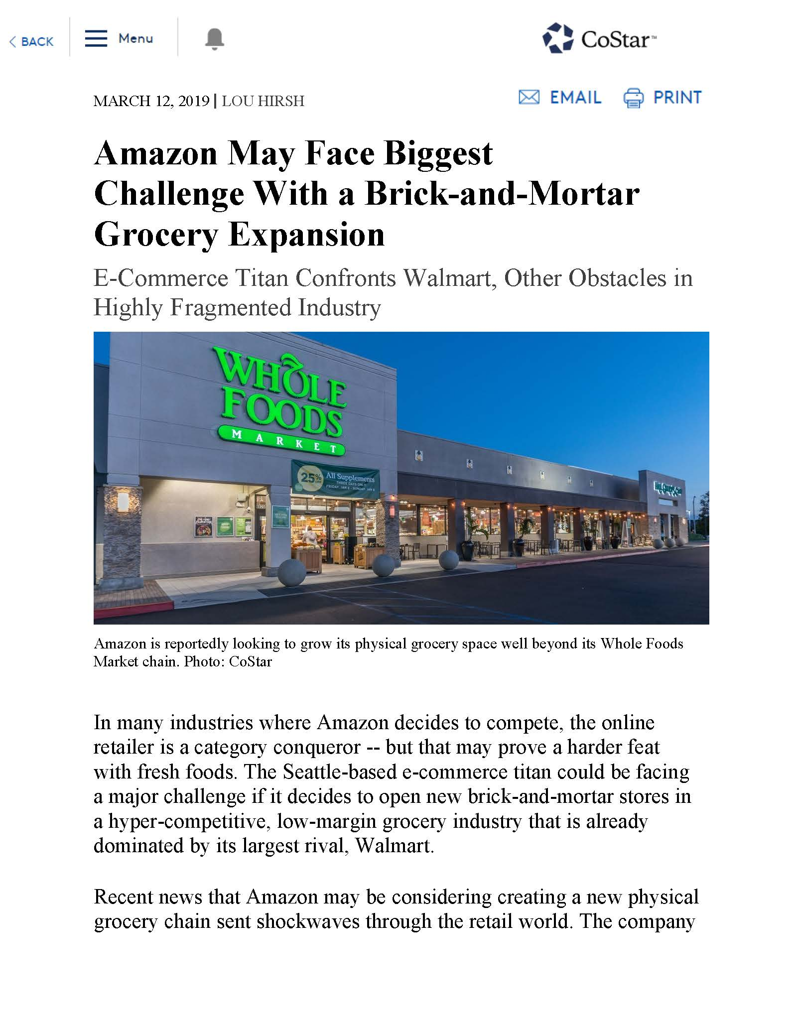 Amazon May Face Biggest Challenge With A Brick And Mortar Grocery Expansion Page 1