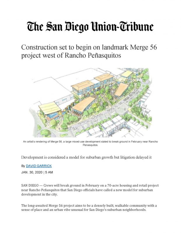 Construction Begin At Merge 56 Article 1.30.20 Page 1