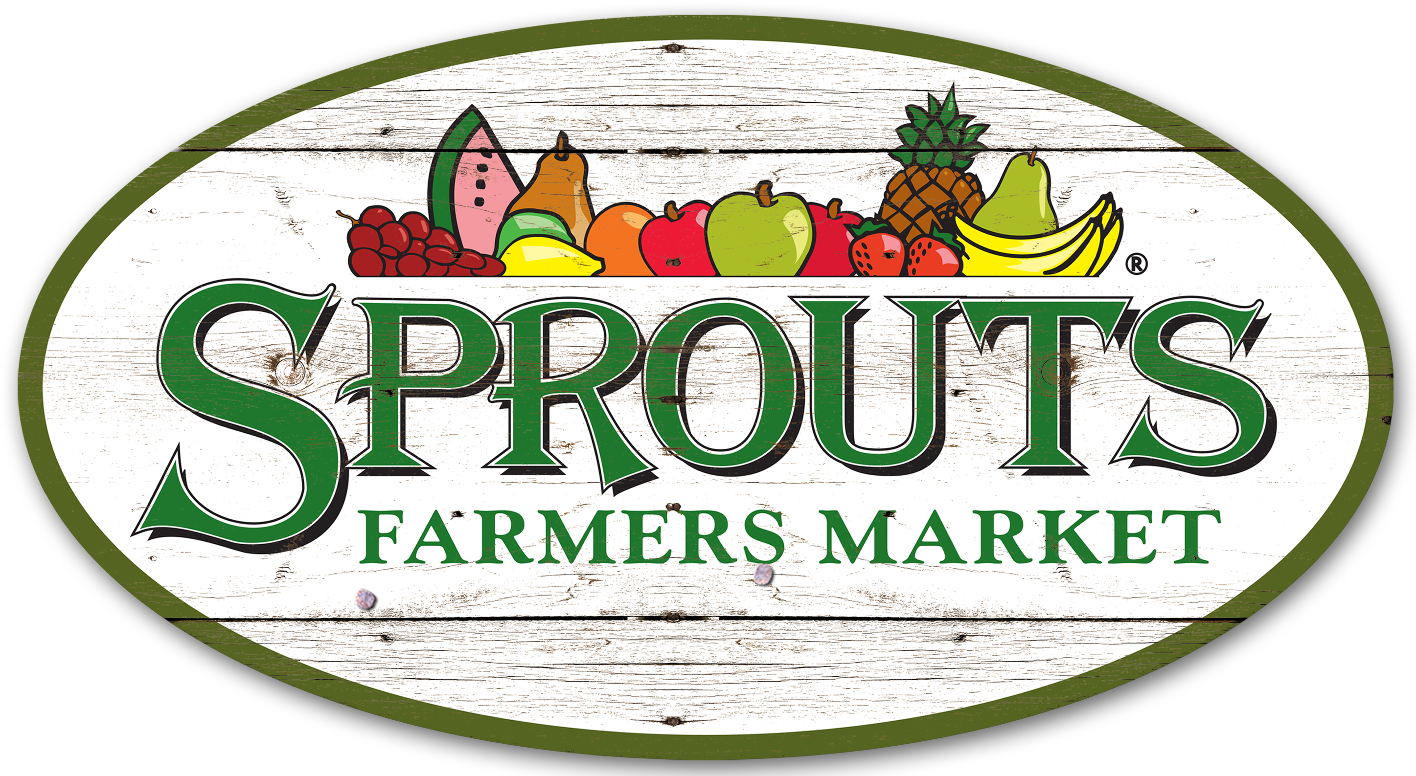Sprouts Logo Vintage Wood