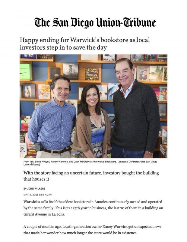 05032021 San Diego Union Tribune Page 1